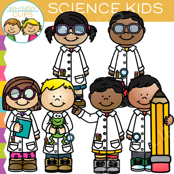 Kids with science clipart clipart transparent library Science Kids Clip Art , Images & Illustrations | Whimsy Clips clipart transparent library