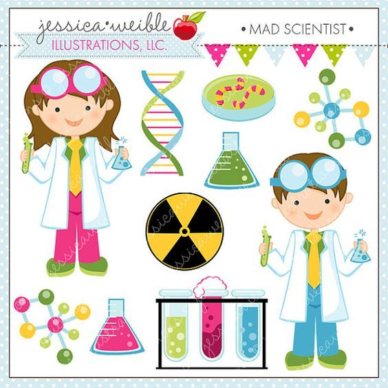 Kids with science clipart png freeuse Scientist Kids Cute Clipart, Science Kids, Science Clip art ... png freeuse