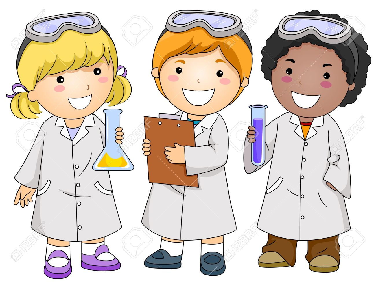 Kids with science clipart vector freeuse stock Kids science experiments clipart - ClipartFest vector freeuse stock