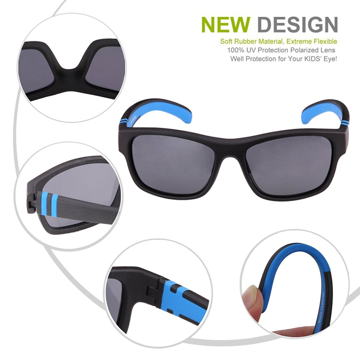 Kids with sunglasses clipart vector royalty free download Amazon.com: Duco Kids Sports Style Polarized Sunglasses Rubber ... vector royalty free download