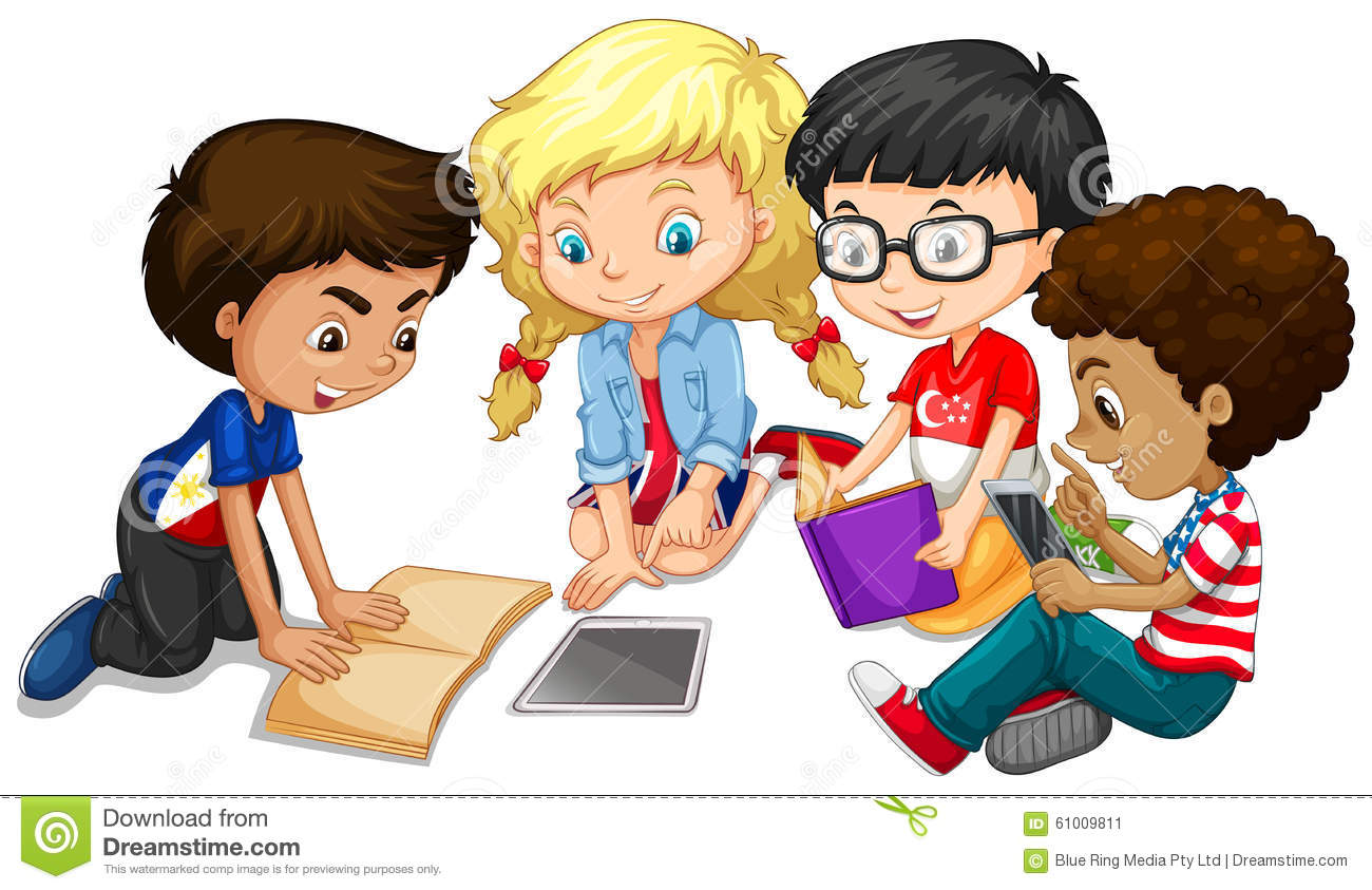 Kids working in groups clipart banner library Kids Working In Groups Clipart banner library