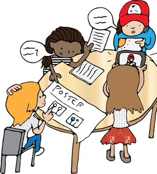 Kids working in groups clipart jpg library stock Irish Guy Teaching jpg library stock