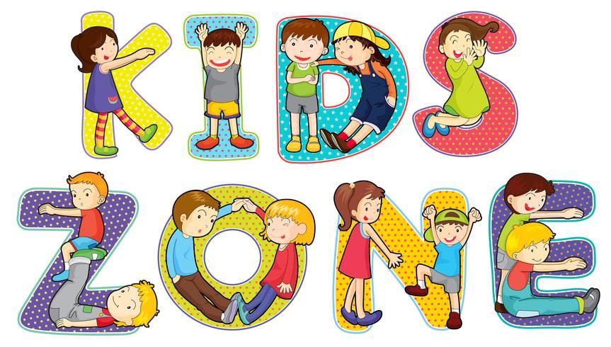Kidzone clipart clip art stock Children on kids zone symbol - Download Free Vectors ... clip art stock