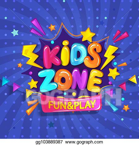 Kidzone clipart clip transparent library Vector Stock - Super banner for kids zone. Clipart ... clip transparent library