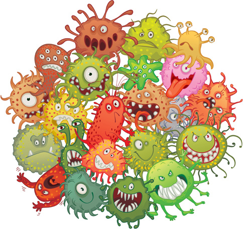 Killing bacteria clipart clip art black and white library Free Funny Germs Cliparts, Download Free Clip Art, Free Clip ... clip art black and white library