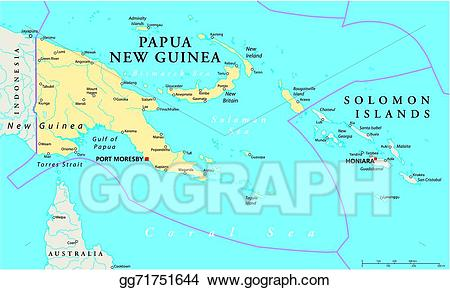 Port moresby clipart map clip art free library Vector Art - Papua new guinea political map. EPS clipart gg71751644 ... clip art free library