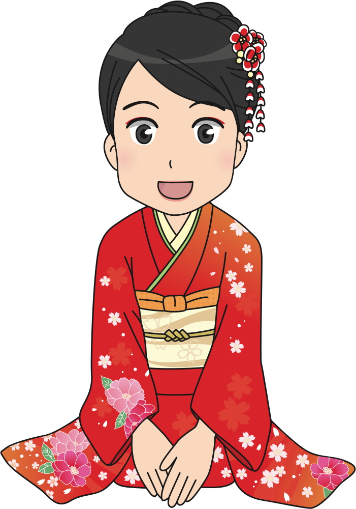Kimono clipart banner royalty free library OnlineLabels Clip Art - Girl In Kimono banner royalty free library
