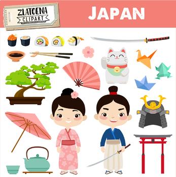 Kimono clipart vector freeuse library Japan clipart Japanese clipart Geisha Samurai clipart Asia graphics Kimono vector freeuse library