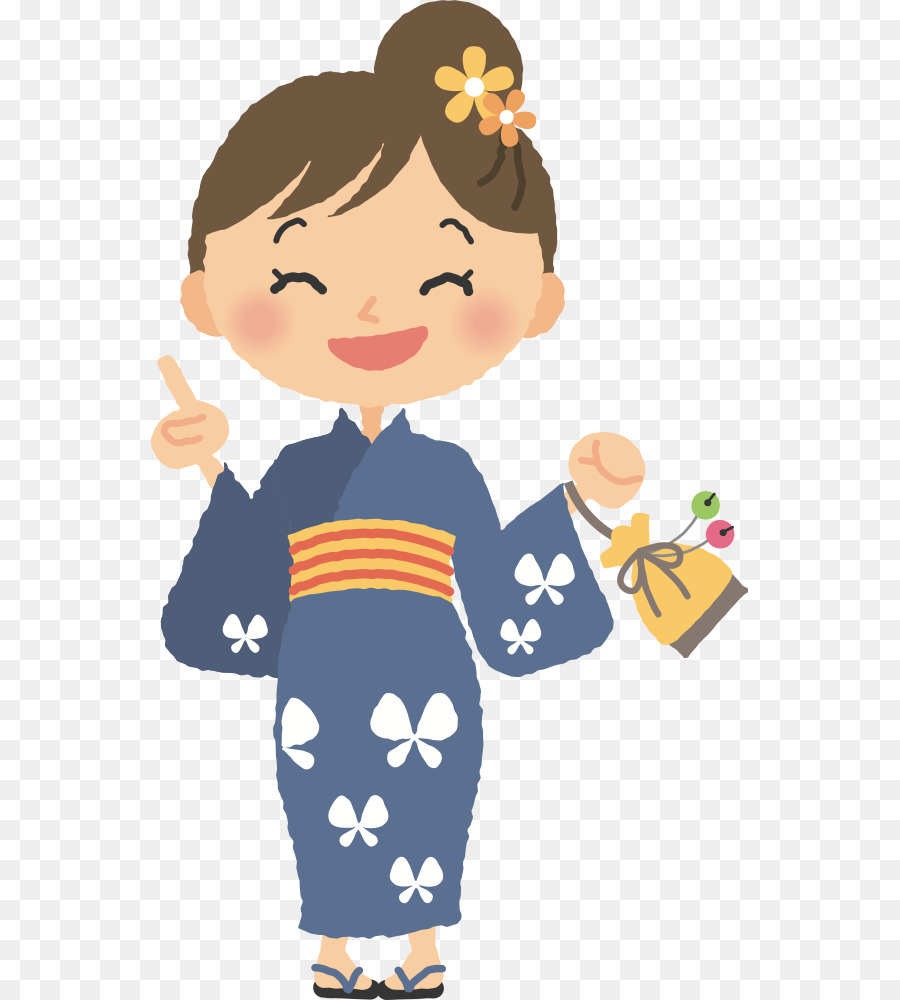 Kimono clipart graphic royalty free stock Happiness People png download - 598*1000 - Free Transparent Kimono ... graphic royalty free stock