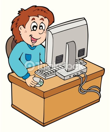 Kind am pc clipart banner royalty free stock Cartoon Boy Working With Computer Vector Art | Thinkstock banner royalty free stock