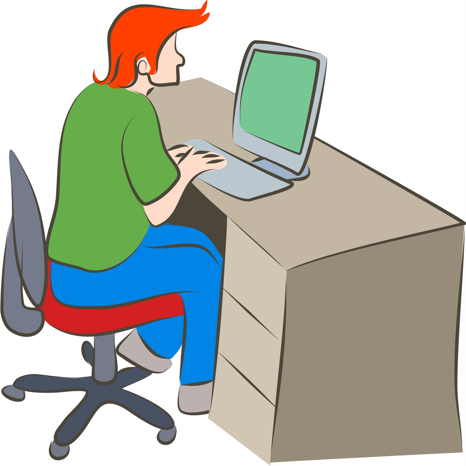Kind am pc clipart clipart free Person Using A Computer | Free Download Clip Art | Free Clip Art ... clipart free