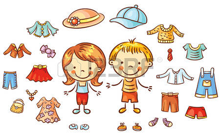 Kind anziehen clipart image library Kind Bluse Lizenzfreie Vektorgrafiken Kaufen: 123RF image library