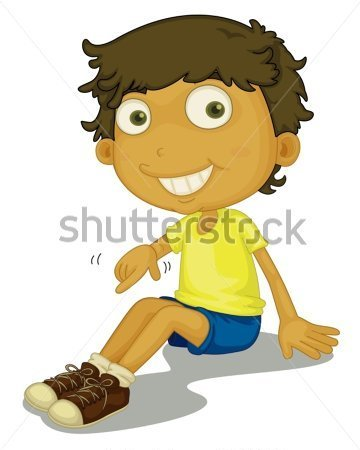 Kind anziehen clipart graphic freeuse download Boy Putting On Shoes Clipart - Clipart Kid graphic freeuse download