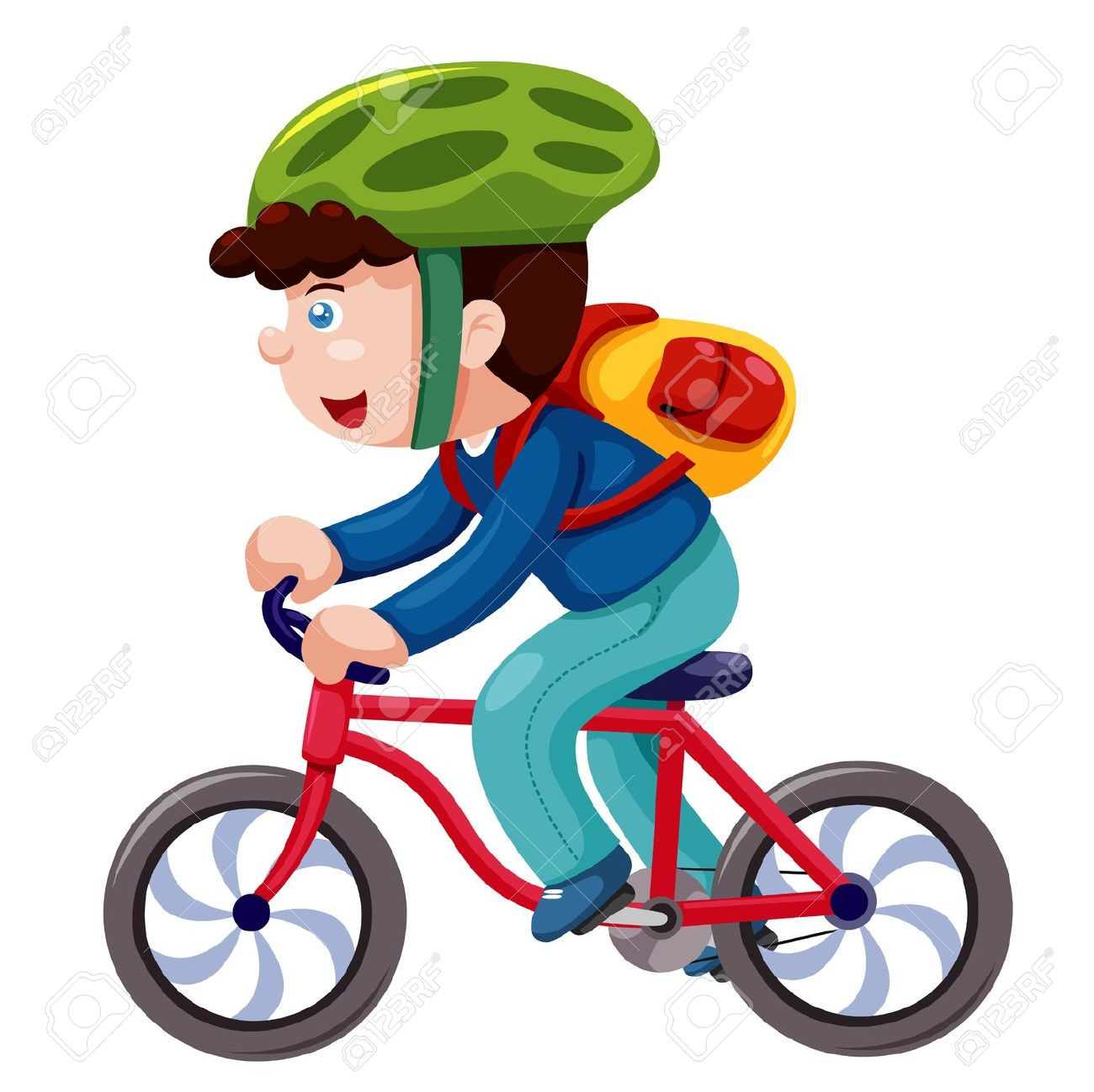 Kind auf fahrrad clipart vector freeuse stock Kind auf fahrrad clipart - ClipartFest vector freeuse stock