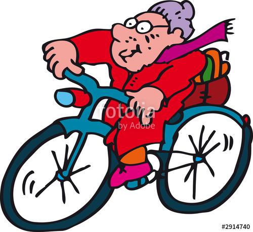 Kind auf fahrrad clipart clipart free library oma auf fahrrad