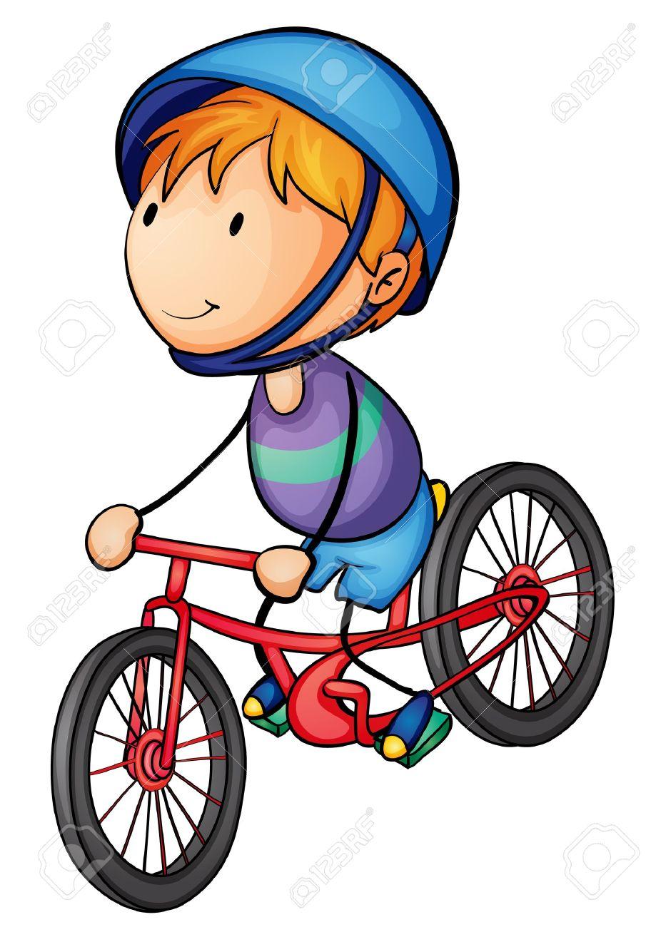 Kind auf fahrrad clipart clipart black and white Kind Fahrrad Lizenzfreie Vektorgrafiken Kaufen: 123RF clipart black and white
