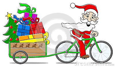 Kind auf fahrrad clipart graphic free download Christmas Elf Cyclist Illustration Stock Vector - Image: 50819175 graphic free download