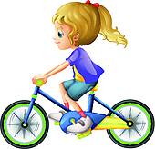 Kind auf fahrrad clipart png library library Clipart of Two girl playing riding on seesaw k20969651 - Search ... png library library