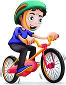 Kind auf fahrrad clipart picture transparent Clip Art of A young boy riding a bicycle k20170468 - Search ... picture transparent
