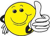 Kind daumen hoch clipart picture royalty free library Clipart - daumen hoch, lächeln, gelb, karikatur, gl k16523863 ... picture royalty free library