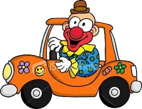 Kind im auto clipart clipart royalty free Clown in a car clipart - ClipartFest clipart royalty free