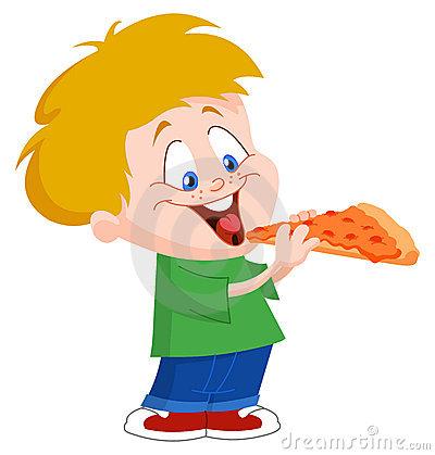Kind isst clipart clip art Kind, Das Pizza Isst Stockfoto - Bild: 26087520 clip art