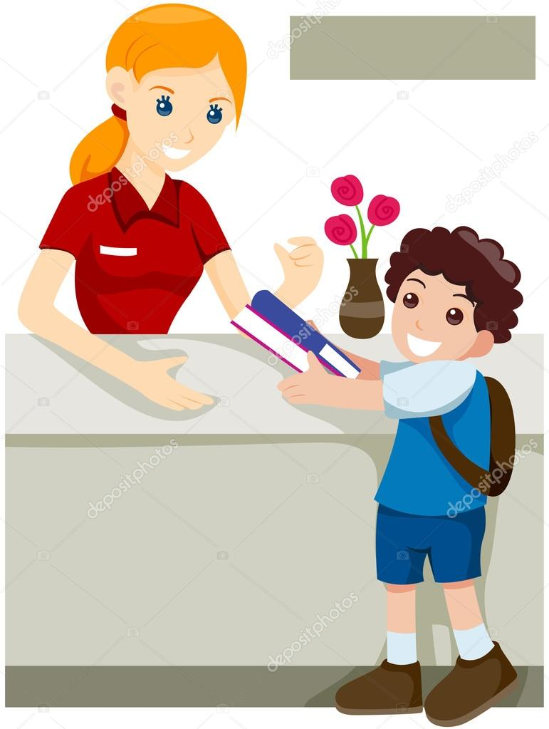Kind mit buch clipart banner transparent library Kind ein Buch leihen — Stockfoto © lenmdp #7733304 banner transparent library