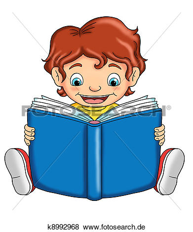 Kind mit buch clipart jpg free download Stock Illustration - kind, dass, liest k8992968 - Suche Clip Art ... jpg free download