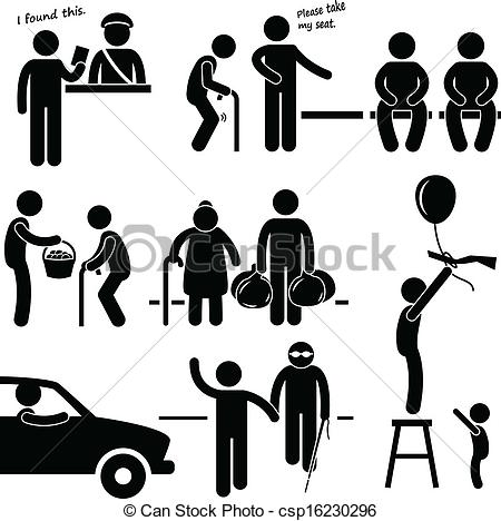 Kind person clipart clip art freeuse EPS Vectors of Kind Good Man Helping People - A set of pictograms ... clip art freeuse