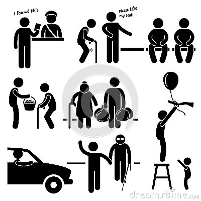 Kind person clipart clipart transparent stock Kind Good Hearted Man Helping People Stock Images - Image: 34318554 clipart transparent stock