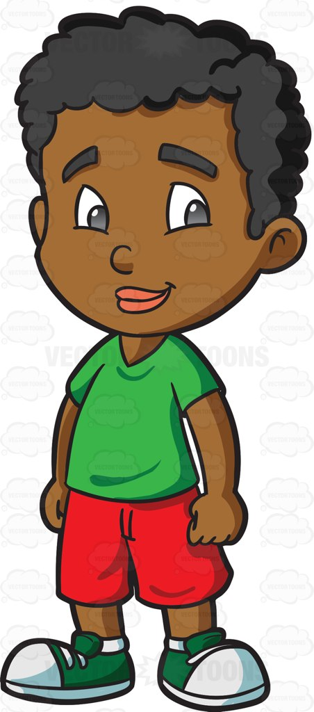 Kind student clipart png free A Black Male Kindergarten Student Looking Happy And Kind Cartoon ... png free