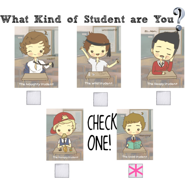 Kind student clipart graphic library What kind of student are you? - Polyvore graphic library