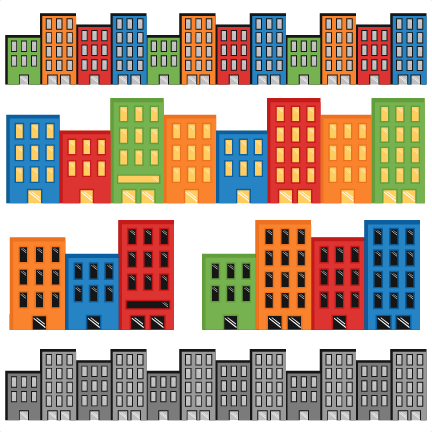 Kind superhero clipart png free library Superhero Cityscapes SVG cutting files for scrapbooking superhero ... png free library