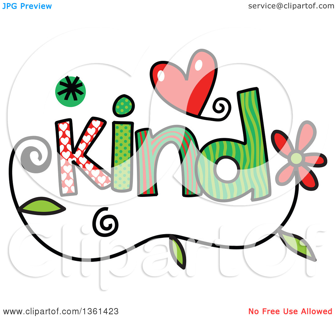 Kind words clipart clip art stock Clipart of Colorful Sketched Kind Word Art - Royalty Free Vector ... clip art stock