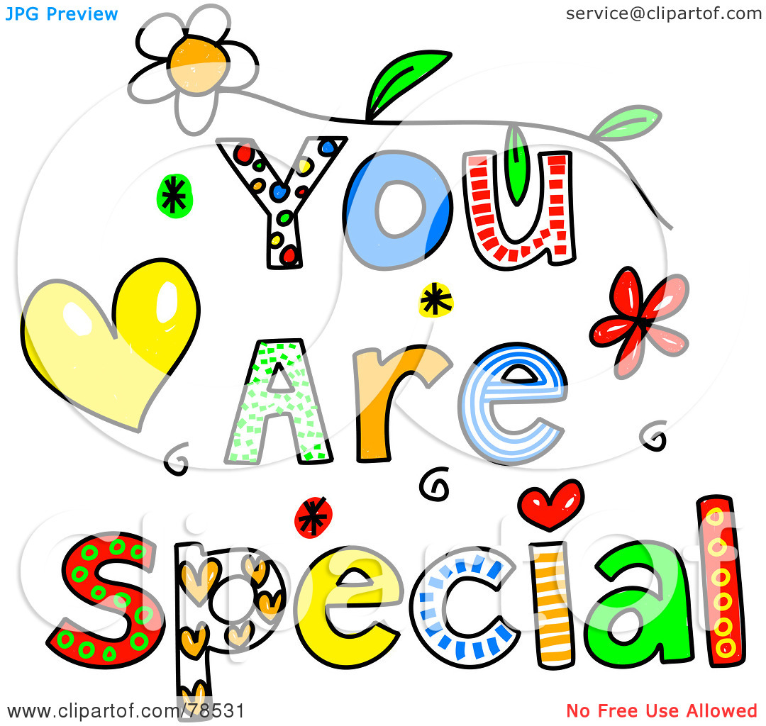 Kind words clipart jpg library Royalty-Free (RF) Clipart Illustration of Colorful You Are Special ... jpg library