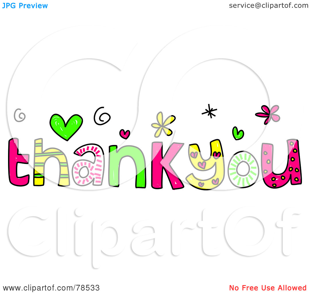 Kind words clipart picture freeuse stock Royalty-Free (RF) Clipart Illustration of Colorful Thank You Words ... picture freeuse stock