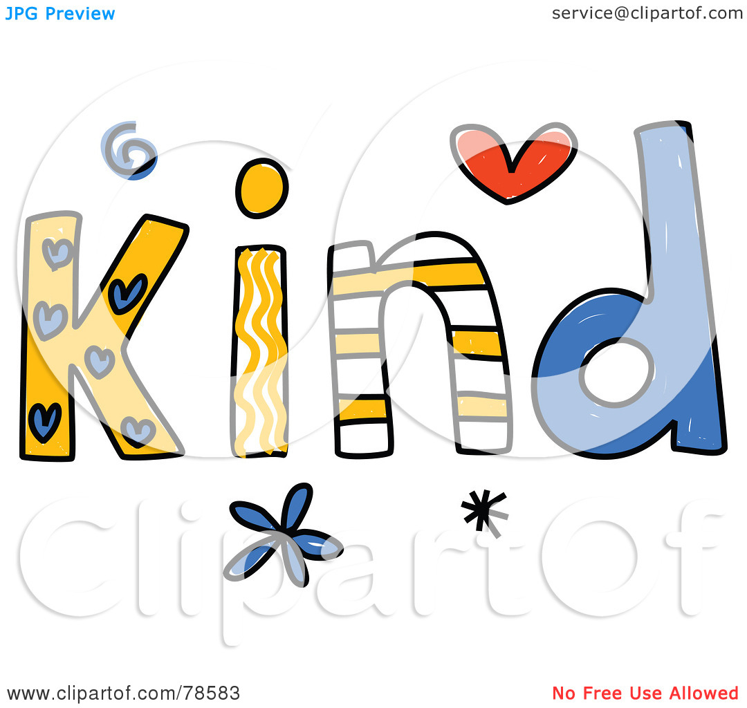 Kind words clipart picture download Royalty-Free (RF) Clipart Illustration of a Colorful Kind Word by ... picture download