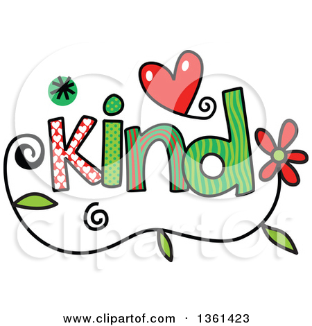 Kind words clipart vector black and white download Clipart of Colorful Sketched Kind Word Art - Royalty Free Vector ... vector black and white download