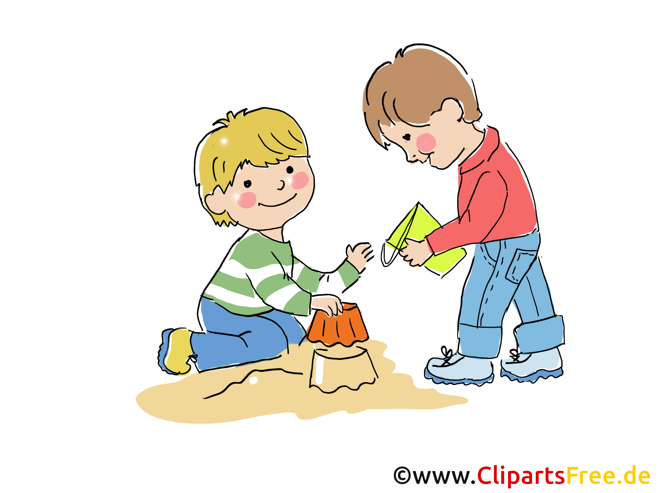 Kinder im garten clipart clipart free Kindergarten Bilder, Cliparts, Cartoons, Grafiken, Illustrationen ... clipart free