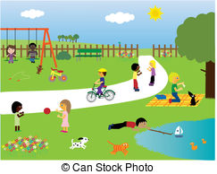 Kinder im garten clipart jpg Park Illustrationen und Stock Art. 89.754 Park Illustrationen und ... jpg