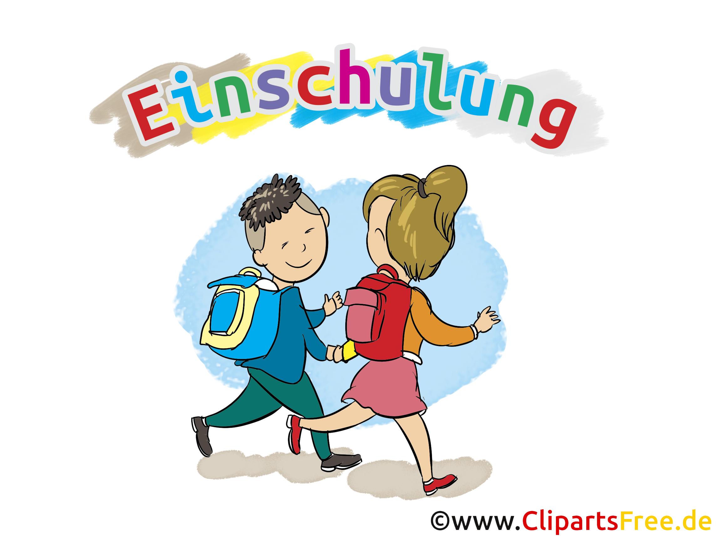 Kinder in der schule clipart clip library stock Einschulung Bilder, Cliparts, Cartoons, Grafiken, Illustrationen ... clip library stock