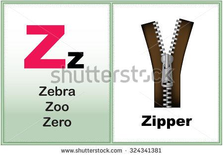 Kindergarten alphabet clipart graphic library library Alphabet Letter Z Clipart Few Similar Stock Vector 232409482 ... graphic library library