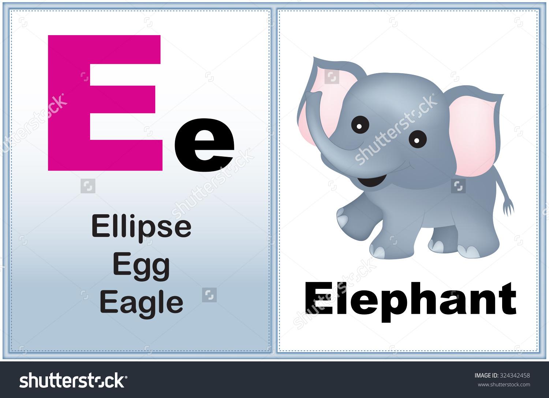 Kindergarten alphabet clipart vector transparent Alphabet Letter E Clipart Few Similar Stock Illustration 324342458 ... vector transparent