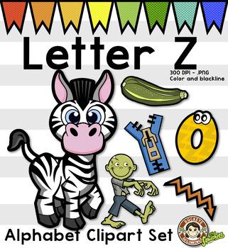 Kindergarten alphabet clipart banner freeuse download Alphabet Clip Art: Letter Z Phonics Clipart Set - Clip Art | Art ... banner freeuse download