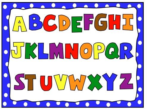 Kindergarten alphabet clipart vector black and white Kindergarten alphabet clipart - ClipartFest vector black and white