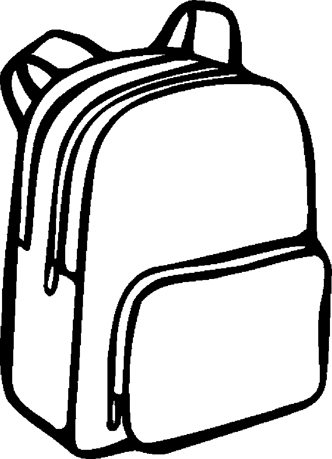 Kindergarten backpack clipart black and white with school supplies picture freeuse Free Images Of School Supplies, Download Free Clip Art, Free Clip ... picture freeuse