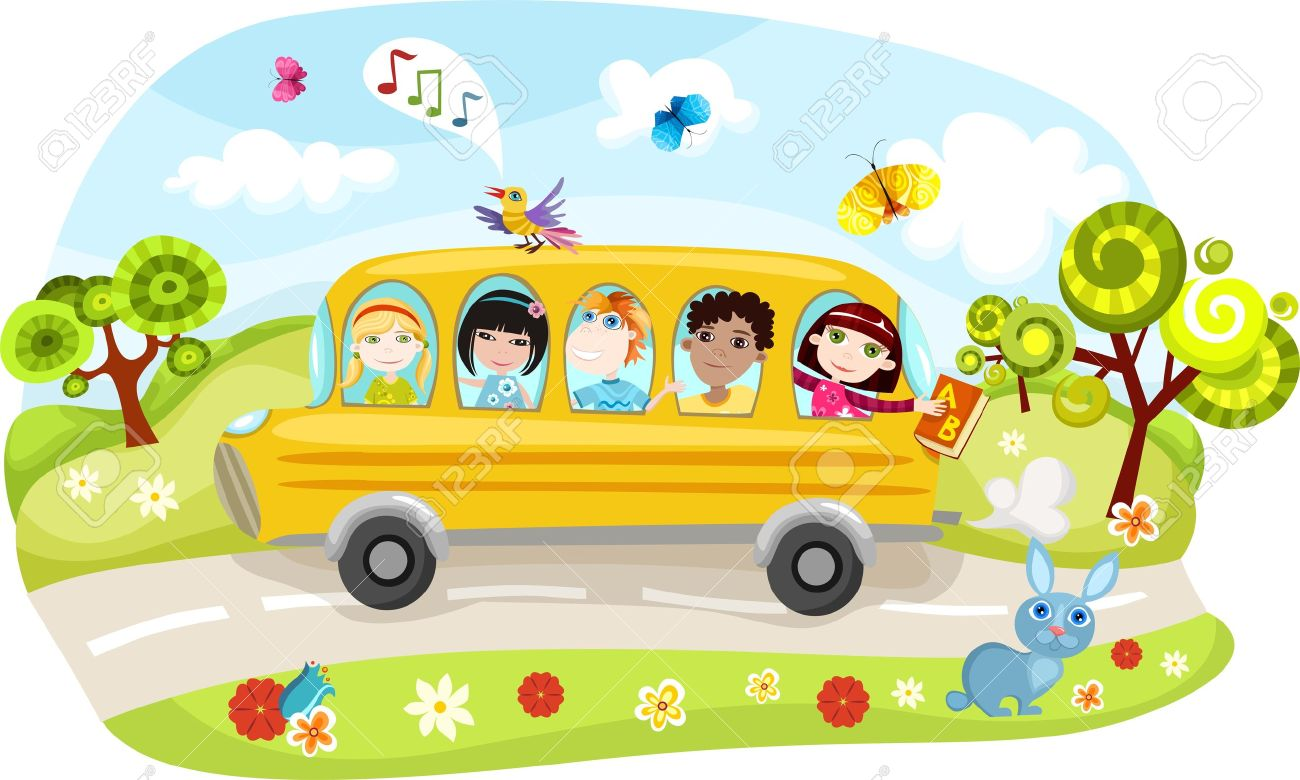 Kindergarten bus clipart vector royalty free download Kindergarten bus clipart - ClipartFox vector royalty free download