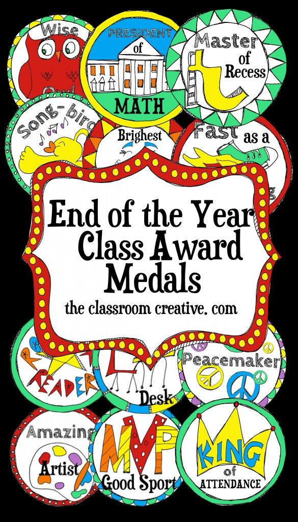 Kindergarten end of year party ideas clipart jpg free download Medals, Medals! Need a new and refreshing take on awards and ... jpg free download