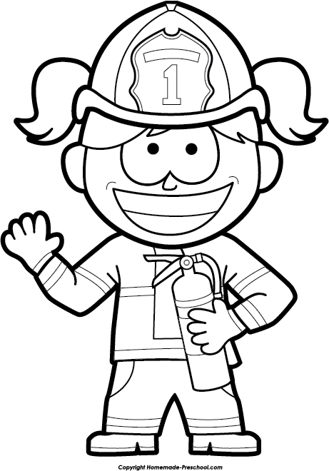 Kindergarten fire safety clipart black and white picture transparent download Fire Safety Clipart picture transparent download