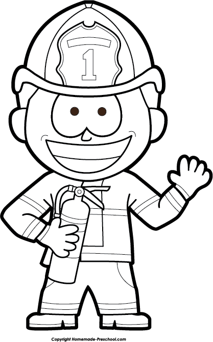 Kindergarten fire safety clipart black and white clip free download Fire Safety Clipart clip free download